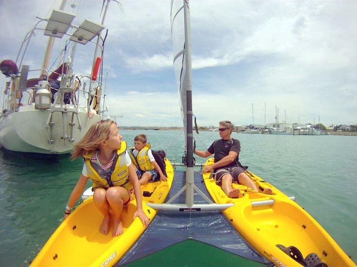 Kayak sit-on-top / de pêche / 2 places / catamaran SWITCH Mission Kayaking