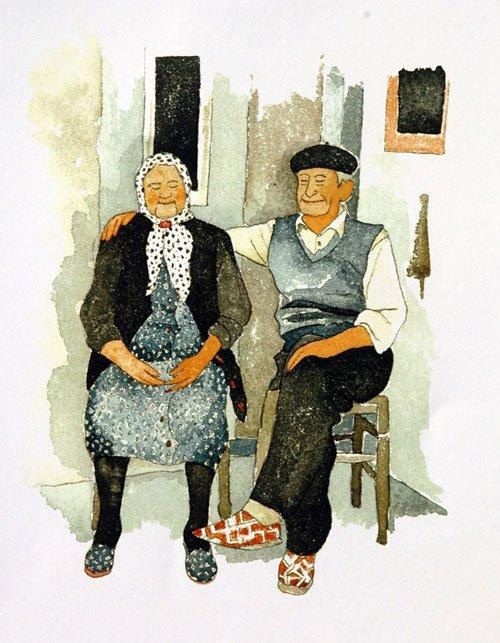 Scenes from the Aveyron 'The old French couple' by ranapix