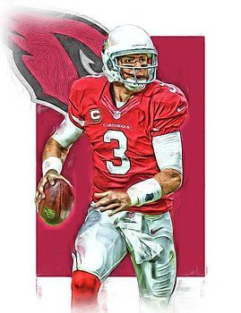 Joe Hamilton - Carson Palmer ARIZONA CARDINALS OIL ART