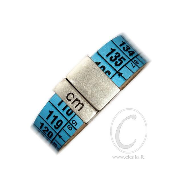 Brand: Il Centimetro. Design: centimeter bracelet - Australian cyan color - in leather with magnet closure! Italian Design. €25,00 on www.cicala.it - Register for discount!