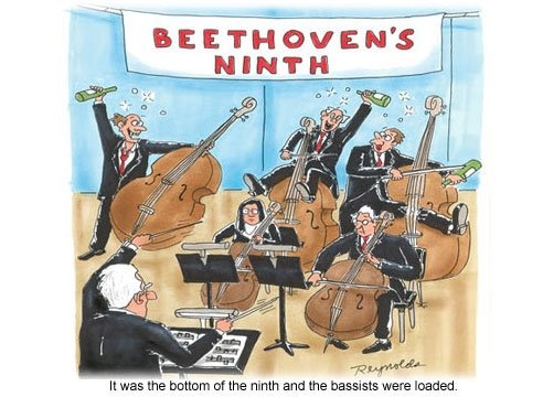 I am entirely too pleased with how punny this one is.: Parties Animal, Funny Cartoon, Funny Pics, Classic Music, Funny Pictures, Beethoven 9Th, Funny Stuff, Beethoven Ninth, Music Humor