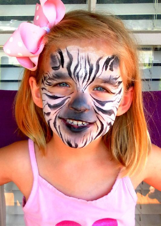 Zebra Face Paint Detailed But Simple