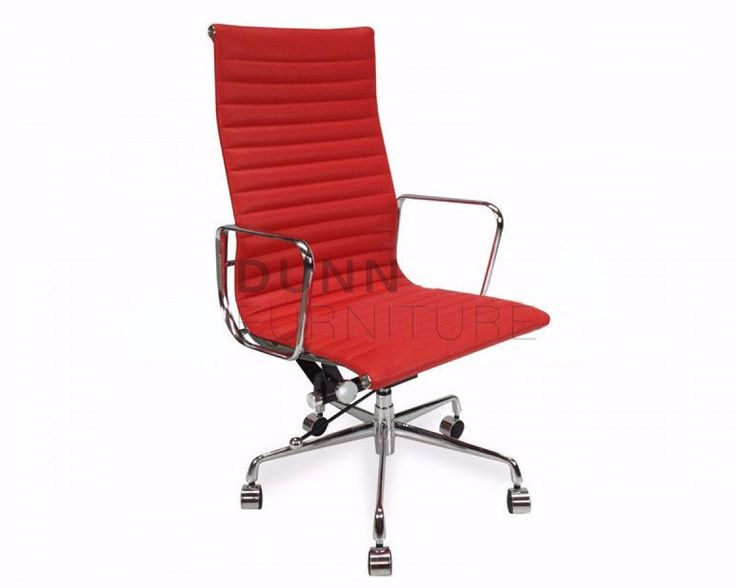 Executive Leather Office Chair Eames Replica Red