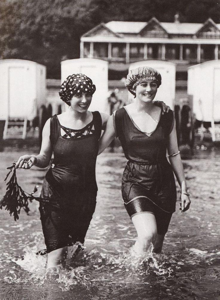 Edwardian bathing suits, c. 1910