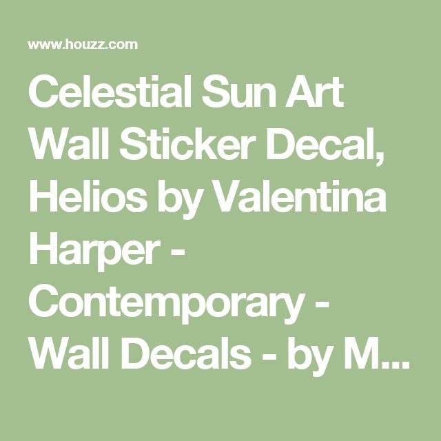 Celestial Sun Art Wall Sticker Decal, Helios by Valentina Harper - Contemporary - Wall Decals - by My Wonderful Walls