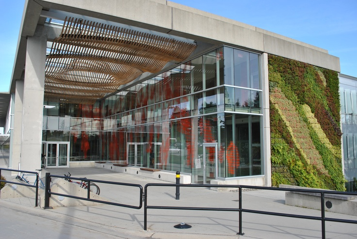 SFU Blusson Hall, designed by Vancouver-based architects Busby, Perkins and Will, the new building exceeds Leadership in Energy and Environmental Design (LEED) Silver standards with numerous planet-friendly features such as a Green Roof and a Green Wall.