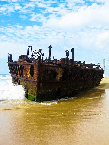 The wreck of the S.S. Maheno near Eli Creek, Fraser Island.