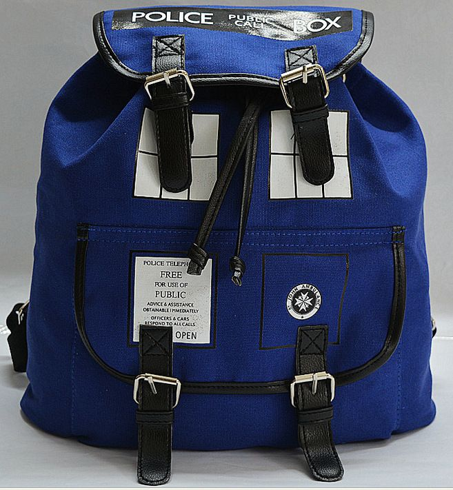 Doctor Who Canvas Printed Anime Dr Who Tardis buckle slouch Children School bag mochila feminina Public Call Police Box Backpack *** Check out this great product.