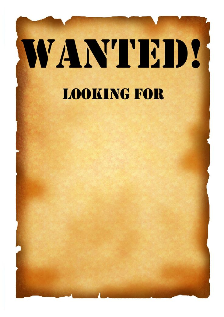 Wanted Poster Template 2 By Lizzy2008 Blog Ideas Marketing - free wanted poster template