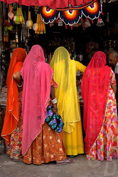 Colourful Saris in Jodhpur, India