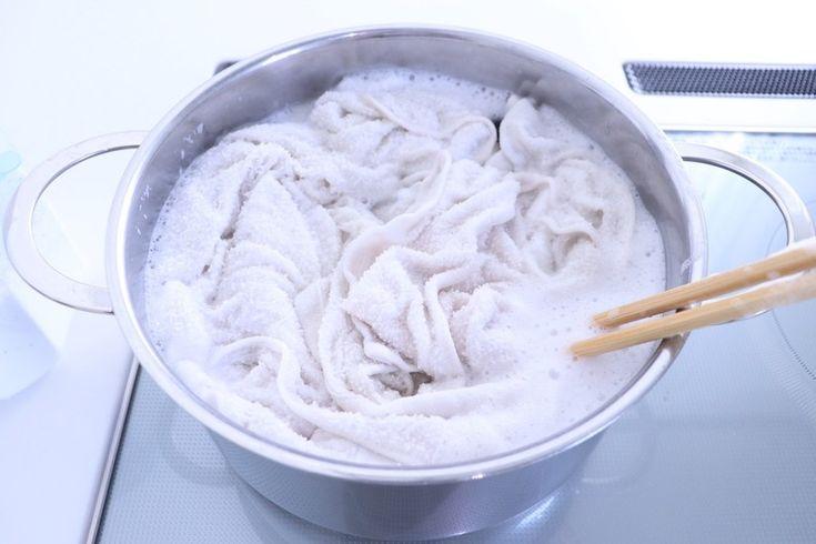 オキシクリーンの効果を存分に発揮!ふきんやタオルをもっと真っ白に! LIMIA (リミア)