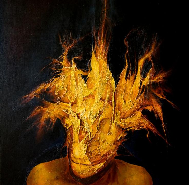 John Forrester Clack - Fire Head 2009 oil on linen 82 x 84 cm