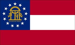 This is Georgia's state flag, newly designed in 2003.