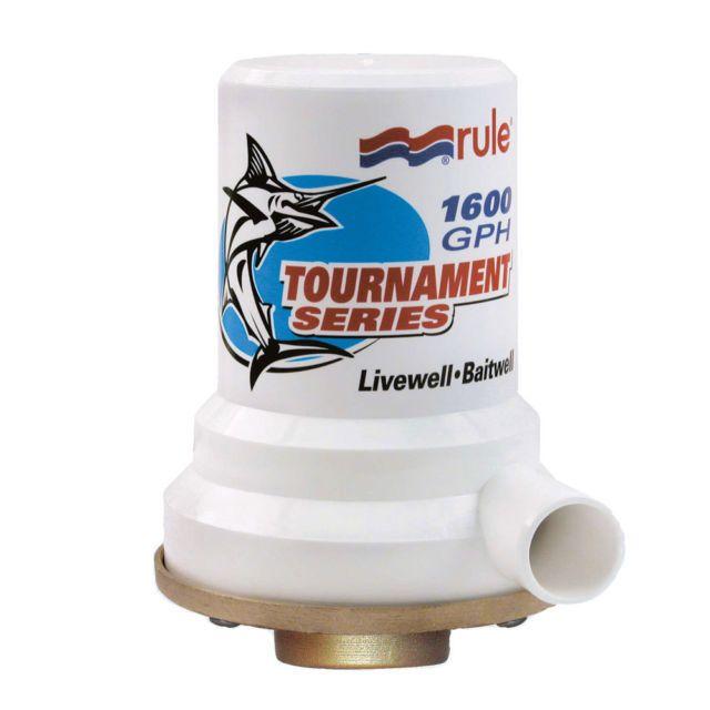 RULE Tournament Series 1600 GPH Bronze Base Livewell Baitwell Pump