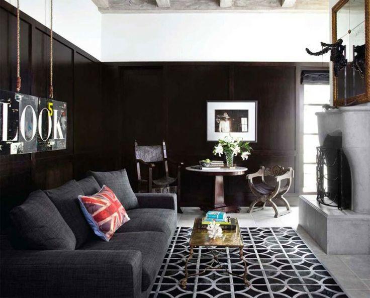 Home Decoration, Carpet Design For Living Room Black Color Themes: Awesome  Modern Carpet Design