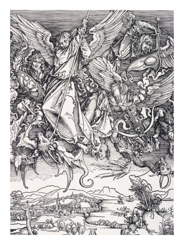 St. Michael Slaying the Dragon  Albert Durer