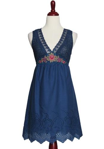 pretty blue lacy dress