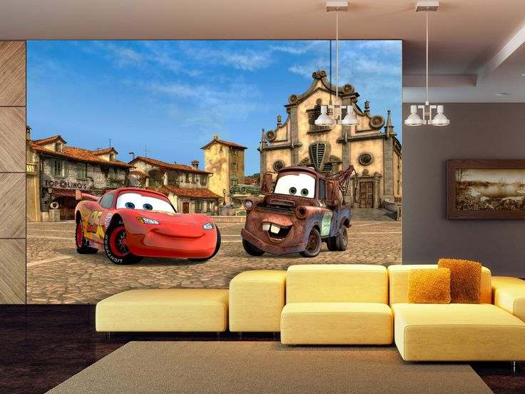 Disney Cars Wallpaper Murals by WallandMore! Beautiful Addition to your Children's Room.