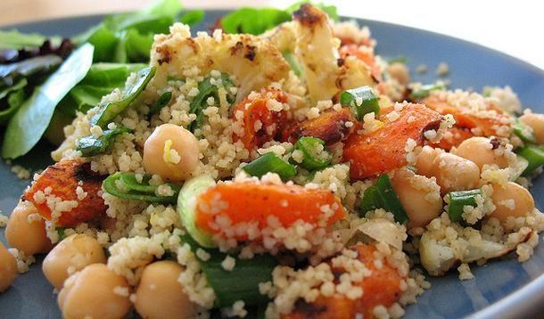 modern couscous, vegetarian salad