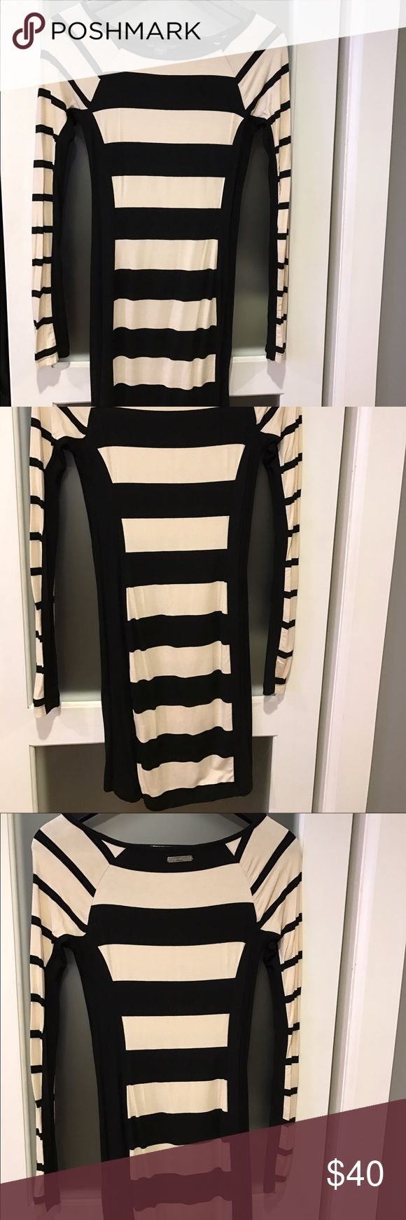 Armani Exchange Knit Long Sleeve Dress Size:Small//Used twice//Perfect body fitting dress that can be worn with OTK boots// A/X Armani Exchange Dresses Long Sleeve