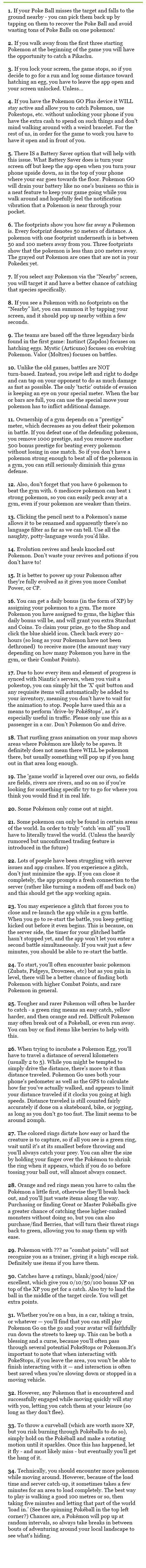 Pokemon Go - Pro Tips