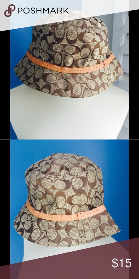 COACH HAT Coach hat with brim..has a couple of slight marks on it. Coach Accessories Hats
