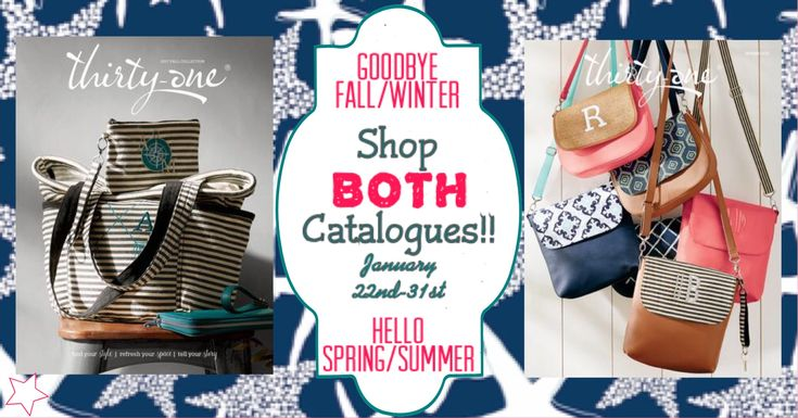 VIP Facebook group banner for shopping both catalogues! Thirty-One Fall/winter 2017 and spring/summer 2018 www.mythirtyone.ca/sabrinawhite