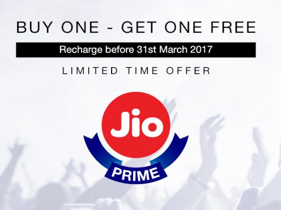 Jio Introduce Buy One – Get One Free Offer for Prime Subscribers