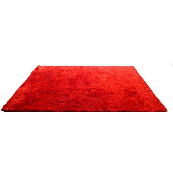 Creative Furniture Red Area Rug ($400) ❤ liked on Polyvore featuring home, rugs, interior, red, shag rugs, polyester shag rug, synthetic area rugs, red shag rug and red rugs