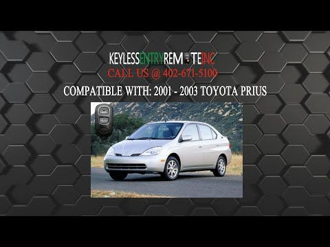 How To Change A 2001 2003 Toyota Prius Key Fob Battery Key Fob
