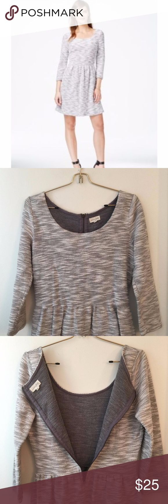 NWOT Grey Textured Sweater Dress Tagged Medium - Fits as a Medium. It's all about the details with this one, from the perfect pleating to the effortlessly comfortable and stylish fabric which has hints of copper, or rose gold, through out. Sparkles just enough in the sunlight. Maison Jules Dresses Long Sleeve