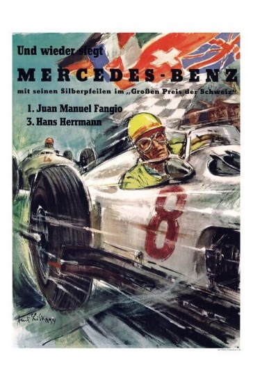 28 best retro motor racing posters images on pinterest for Mercedes benz wall posters