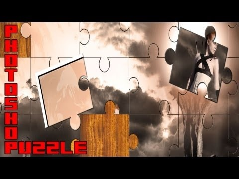 Photoshop: How to make a Puzzle (ready for film/print/game) - YouTube