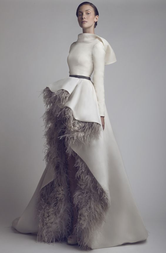 Feather Details,  This week of November 25th I find this designer to be very creative. Very couture, chic and artistic. Love! Ashi Studio - Couture