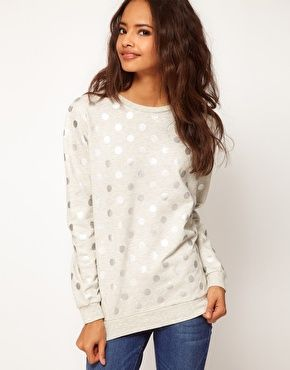 Silver polka dot sweater