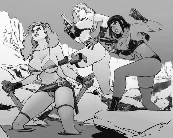 joel27,Joël Jurion, jjfrenchie,artist,девушки с оружием,арт барышни,art девушка,красивые картинки