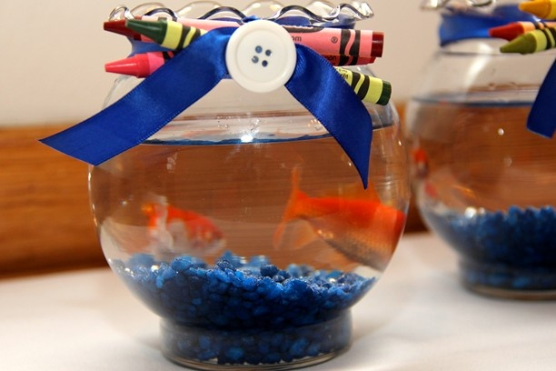 Sesame Street Party - Dorothy (Elmo's fish) favors!! Probably should ask the mom's first!! But what a GREAT IDEA!!