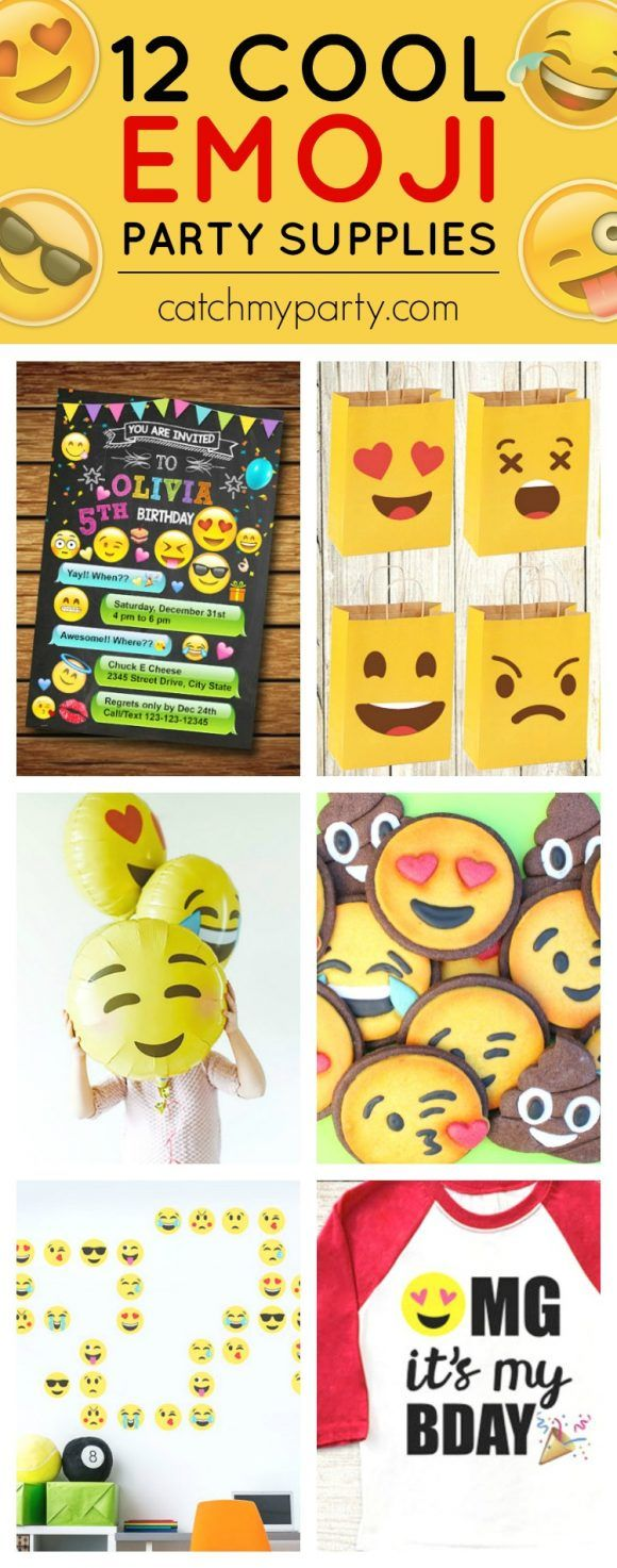 12 Cool Emoji Party Supplies | The Catch My Party Blog | Bloglovin'