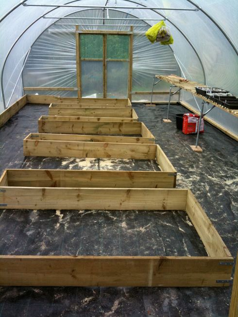 Raised Beds Keyhole Style In A Polytunnel Garden