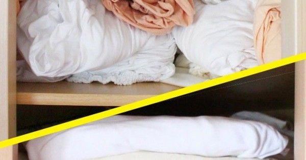 ber ideen zu bettw sche falten auf pinterest fabelhaft organisiertes zuhause kleidung. Black Bedroom Furniture Sets. Home Design Ideas