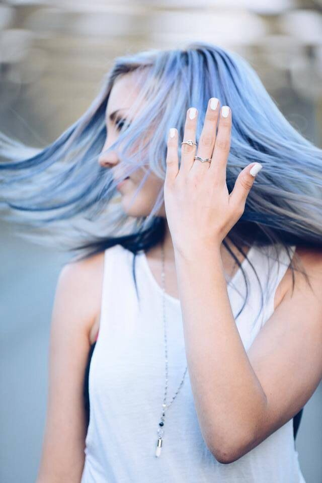 hair by Gwanaël Roy  for Y jewelry   #hairart #hairtrends #pastelblue #whitehair #whitecollection
