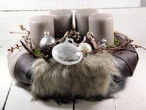 Adventskranz,Weihnachtsdeko,Kerzen,Weihnachten,