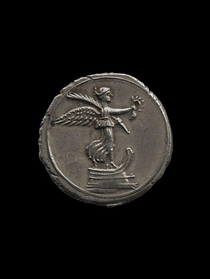 Silver coin Victory, Roman 29BC-27BC
