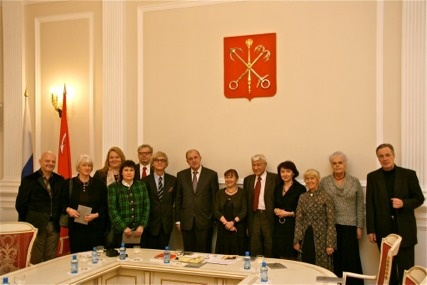 Participating a meeting with the Russian Nobilities Association in Smolna, St. Petersburg.