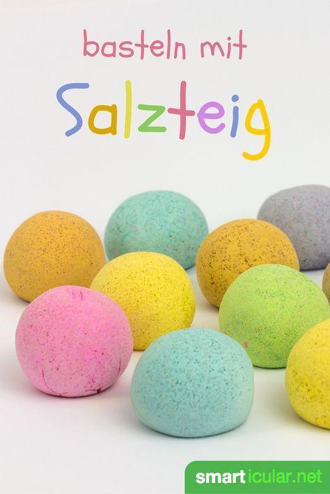 Salzteig selber machen - Rezept, Anleitung und viele Ideen zum Basteln