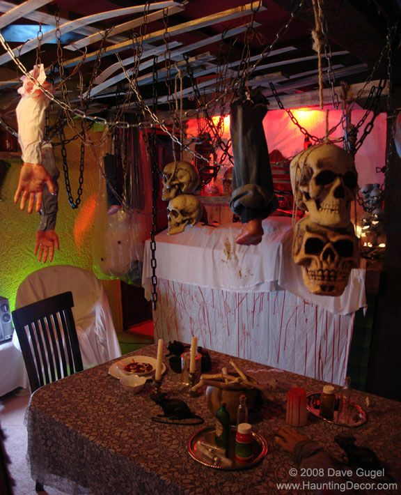 Like the hanging skulls if you go on you tube for Go as you like ideas