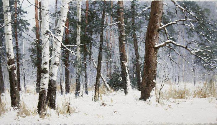 Картины (живопись) : Лес в феврале. Автор Юрий Юрьевич Прядко