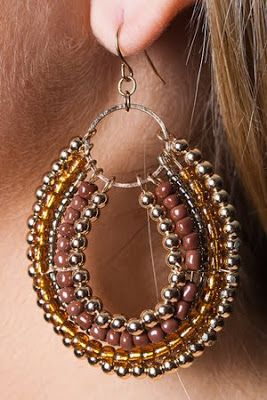 Love these seed bead earrings