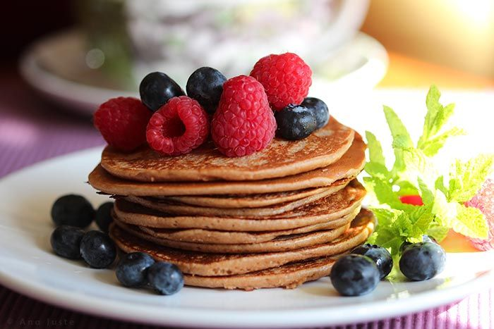 Pancakes de harina de castaña (sin gluten y sin lácteos)