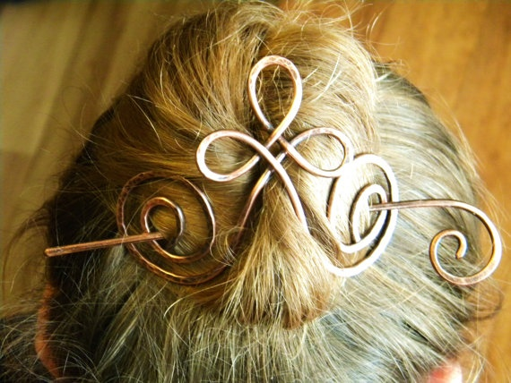 Barrette Hair Clip Metal Hair Clip Hair Sticks by ElizabellaDesign, $19.50